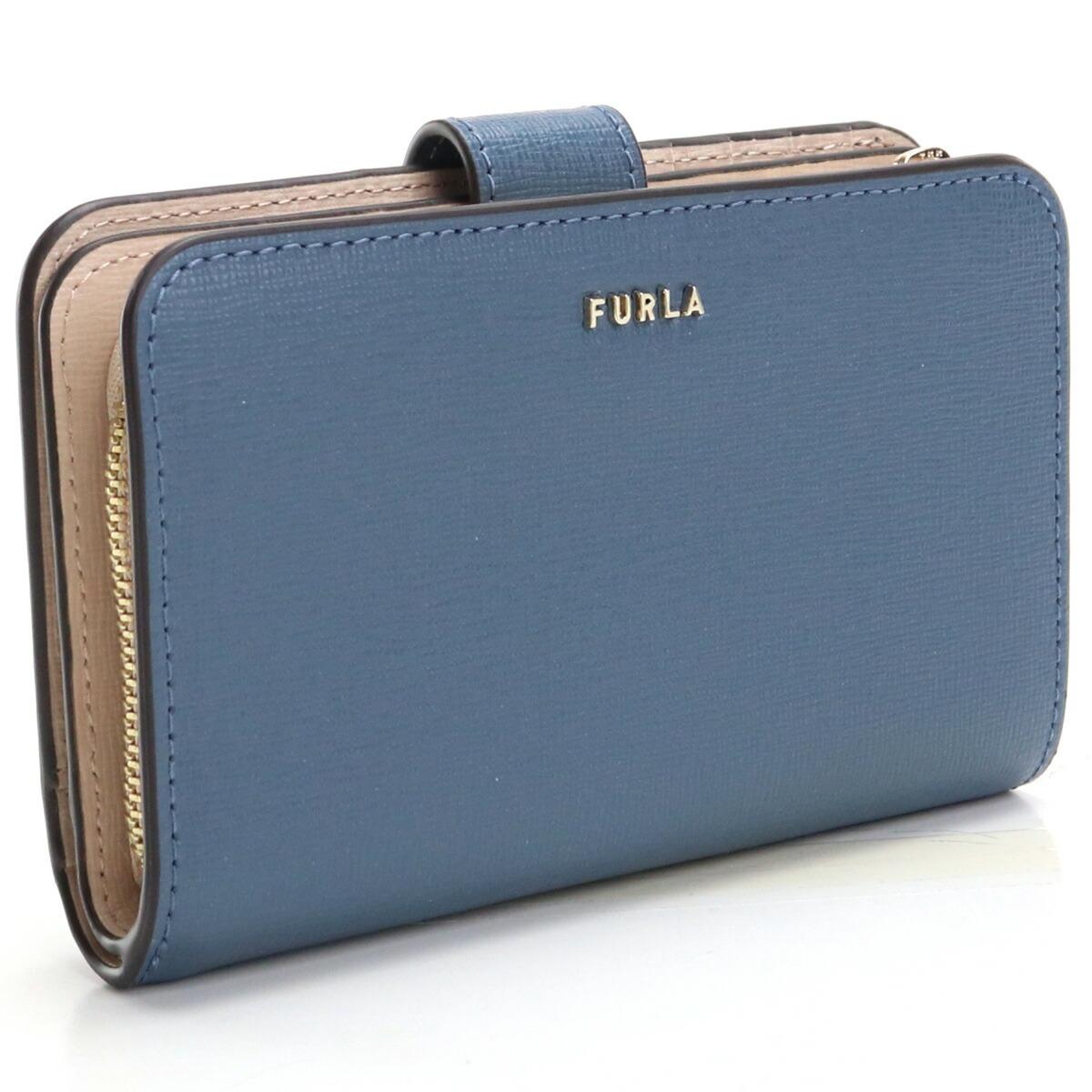 フルラ FURLA BABYLON 2つ折り財布 ブランド財布 コンパクト財布 ミニ財布 PCX9UNO B30000 0245S BLU DENIM+BALLERINA ブルー系