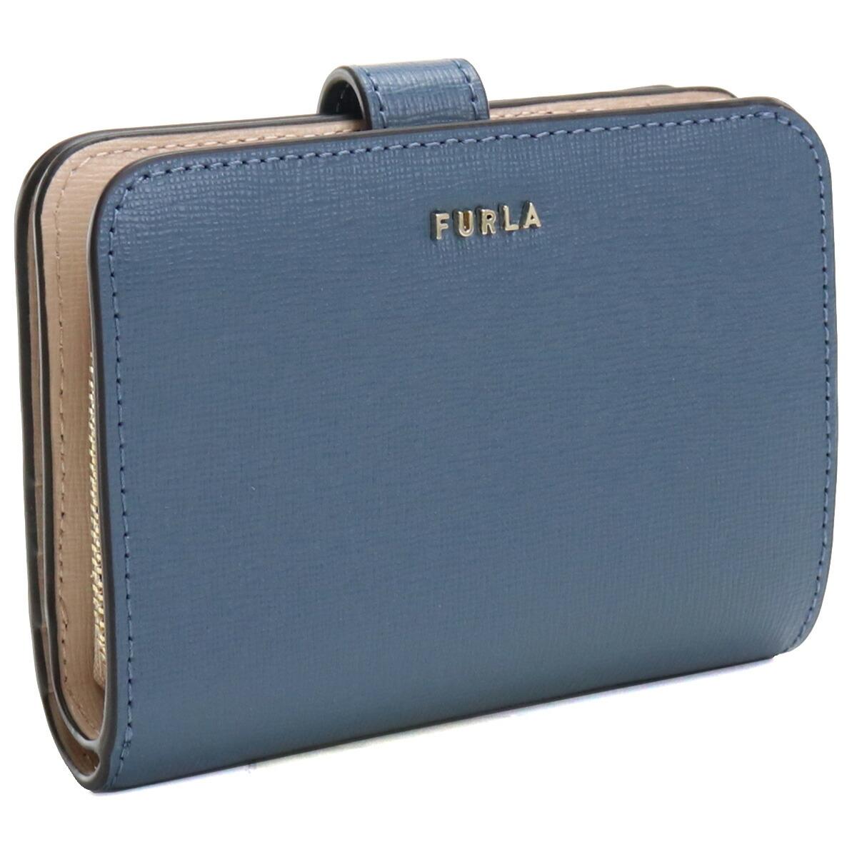フルラ FURLA BABYLON 2つ折り財布 ブランド財布 コンパクト財布 ミニ財布 PCY0UNO B30000 0245S BLU DENIM+BALLERINA ブルー系