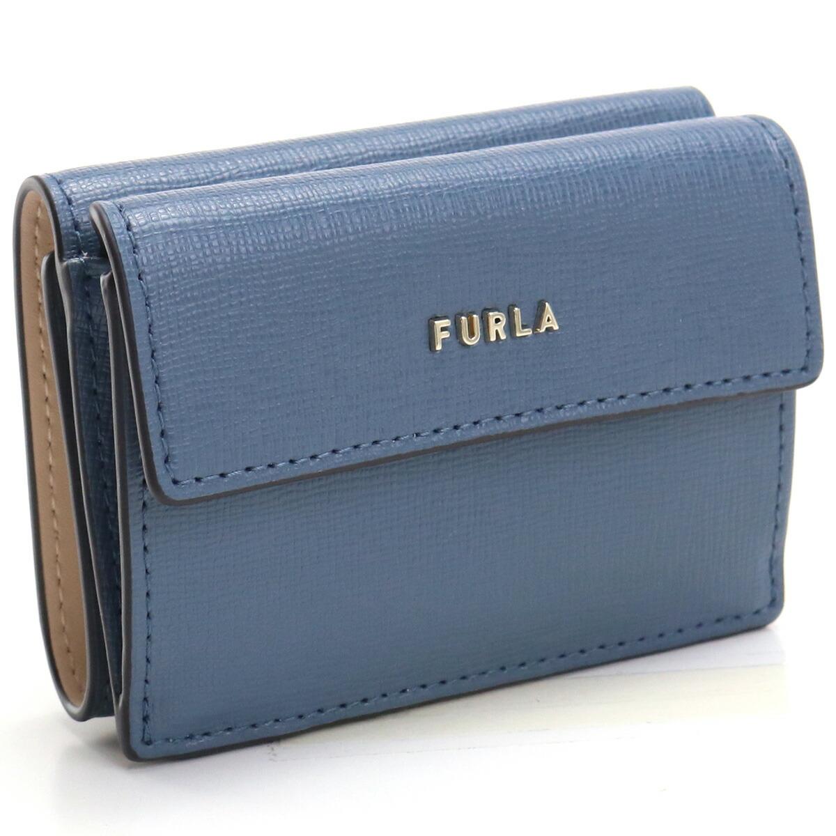 フルラ FURLA BABYLON 3つ折り財布 ブランド財布 ミニ財布 コンパクト財布 PCY9UNO B30000 0245S BLU DENIM+BALLERINA ブルー系 gsw-2