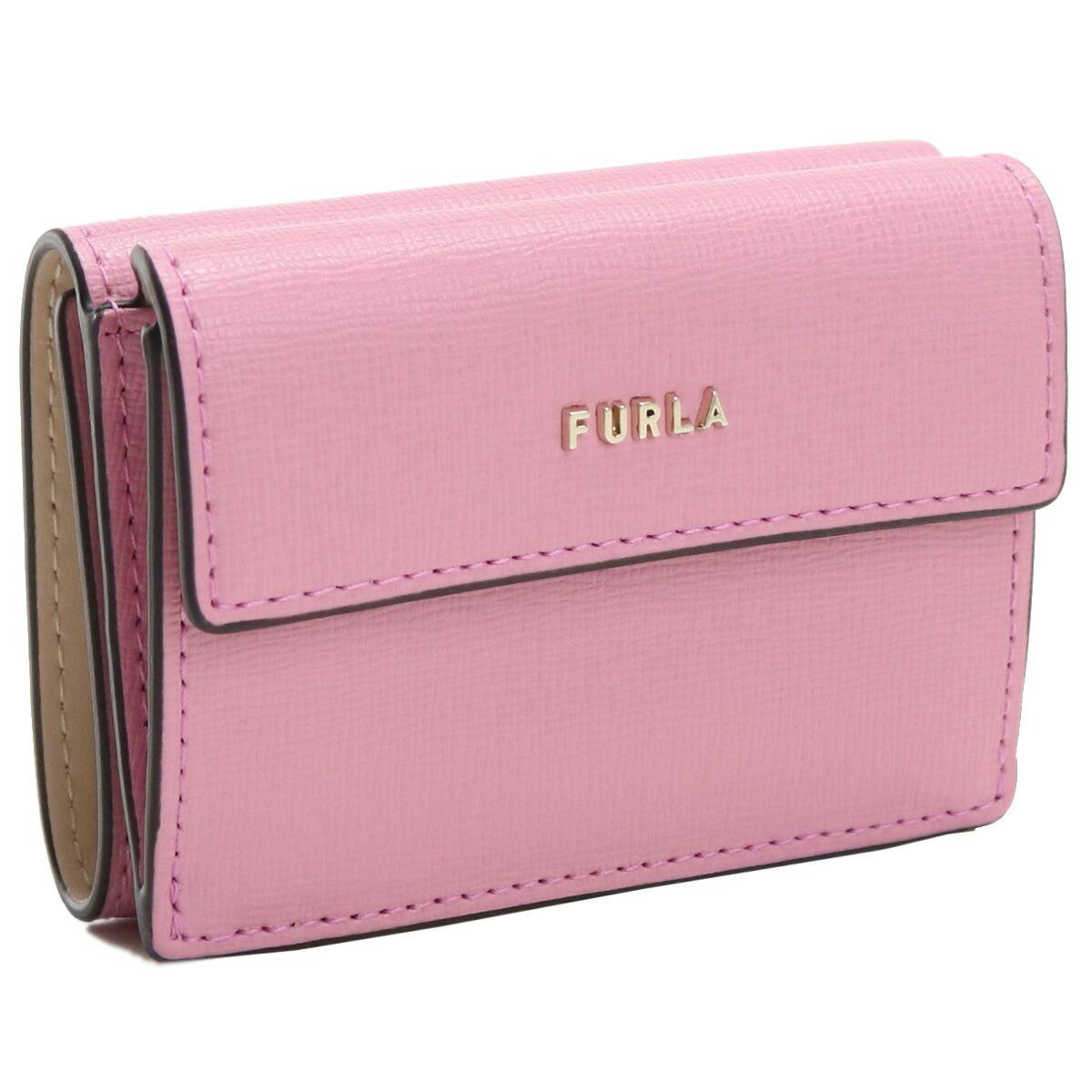 フルラ FURLA BABYLON 3つ折り財布 ブランド財布 ミニ財布 コンパクト財布 PCY9UNO B30000 0602S CONFETTO+BALLERINA ピンク系 gsw-2