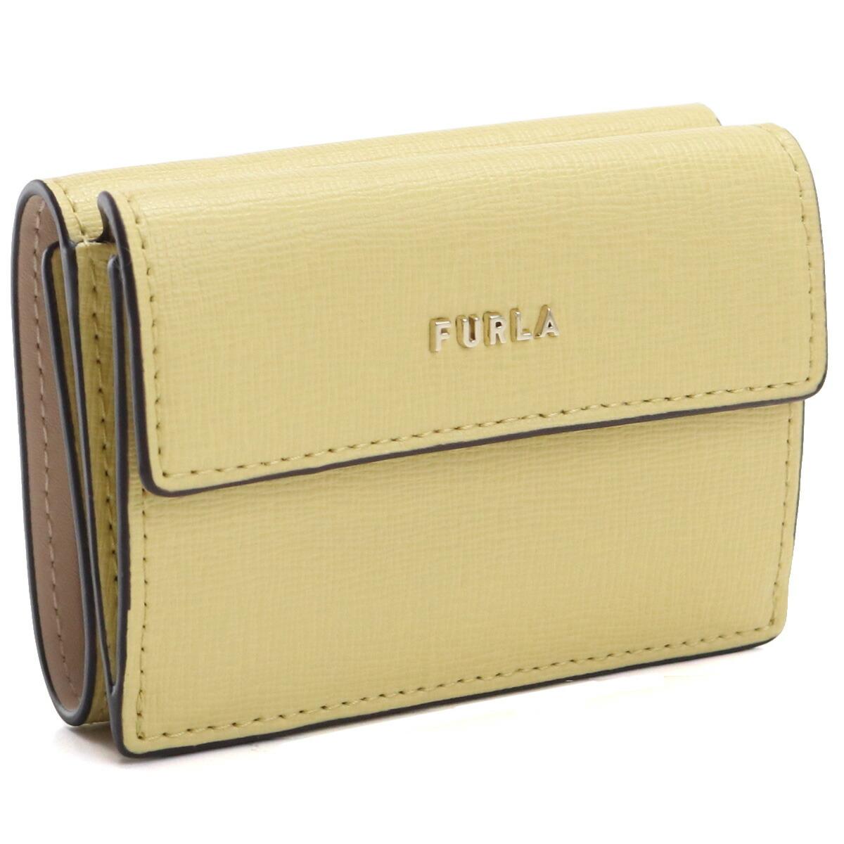 フルラ FURLA BABYLON 3つ折り財布 ブランド財布 ミニ財布 コンパクト財布 PCY9UNO B30000 0603S MIMOSA+BALLERINA イエロー系 gsw-2