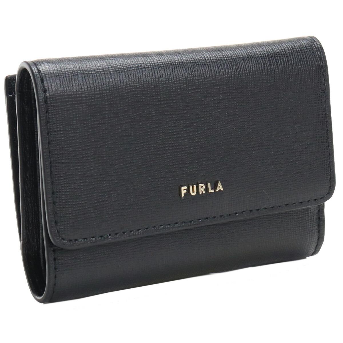 フルラ FURLA BABYLON 3つ折り財布 ブランド財布 コンパクト財布 ミニ財布 PCZ0UNO B30000 O6000 NERO ブラック gsw-2 wallet-01