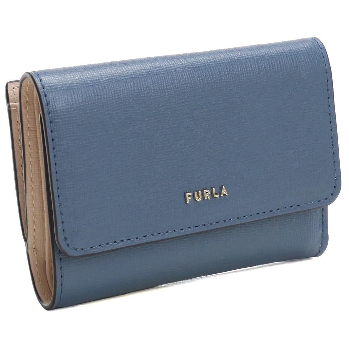 フルラ FURLA BABYLON 3つ折り財布 ブランド財布 コンパクト財布 ミニ財布 PCZ0UNO B30000 0245S BLU DENIM+BALLERINA ブルー系  gsw-2 wallet-01