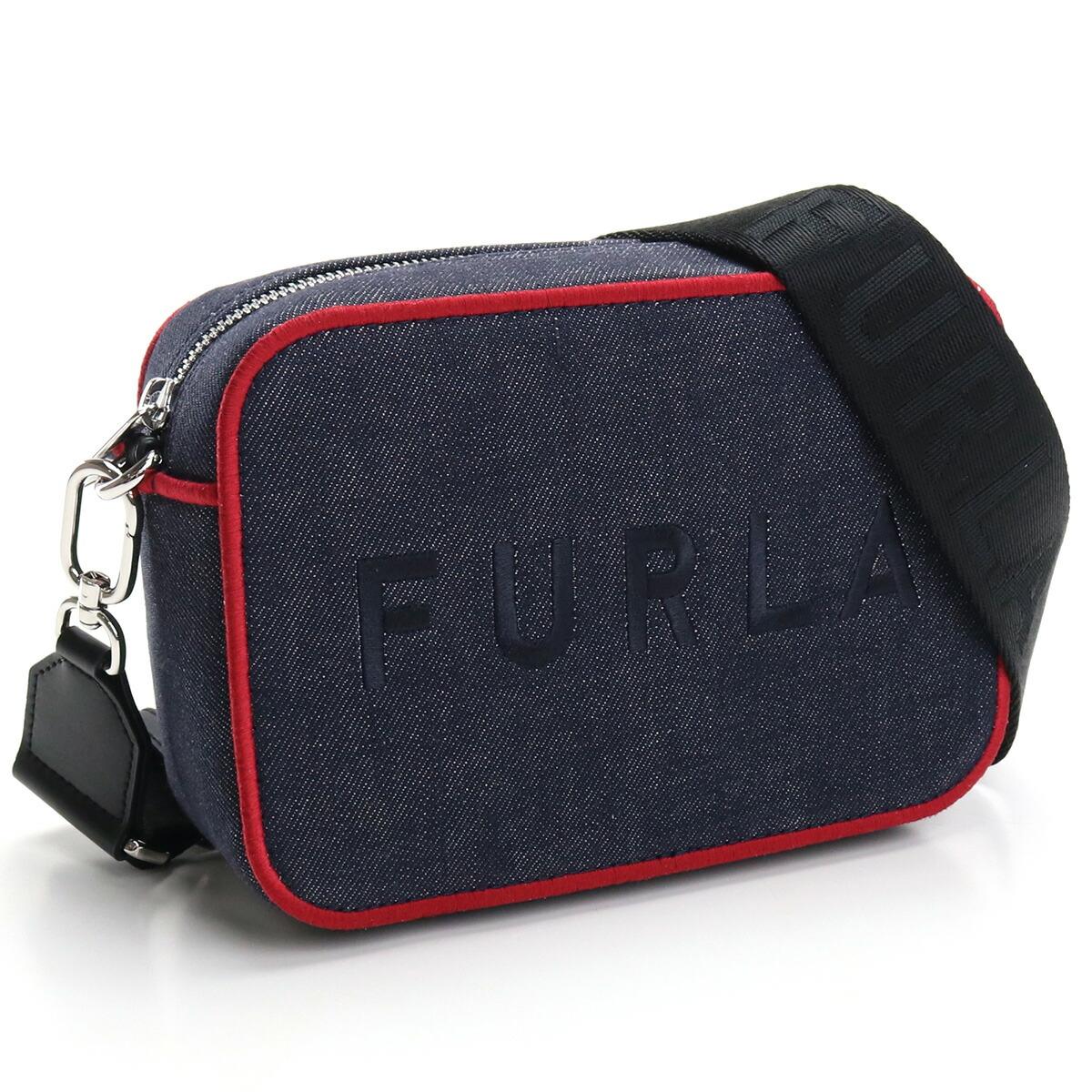 フルラ FURLA FURLA REAL 斜め掛け ショルダーバッグ ブランドバッグ WB00243 AX0796 0613S BLU+RUBY+NERO ネイビー系 bag-01