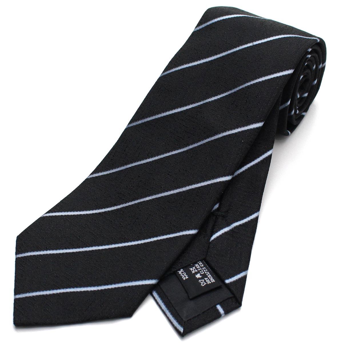 ジョルジオ アルマーニ GIORGIO ARMANI ストライプ シルク ネクタイ レギュラータイ 360054 8A920 00020 BLACK ブラック 最安値挑戦中 メンズ