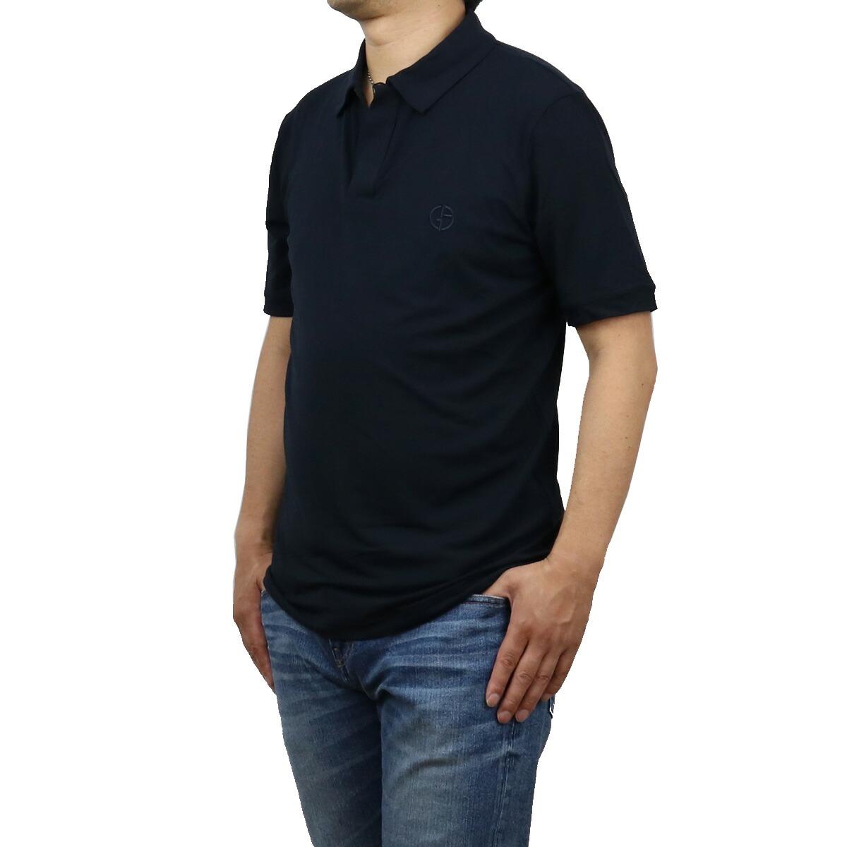 ジョルジオ・アルマーニ GIORGIO ARMANI  メンズ-ポロシャツ 3KSF57 SJP4Z UBSG BLU ネイビー系 polo-01 apparel-01