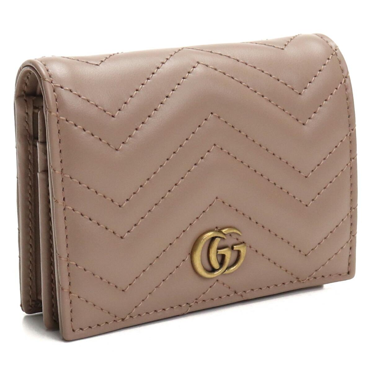 グッチ GUCCI GG MARMONT 2.0 2つ折り財布 ブランド財布 ミニ財布 コンパクト財布 466492 DTD1T 5729 ベージュ系 gsw-2