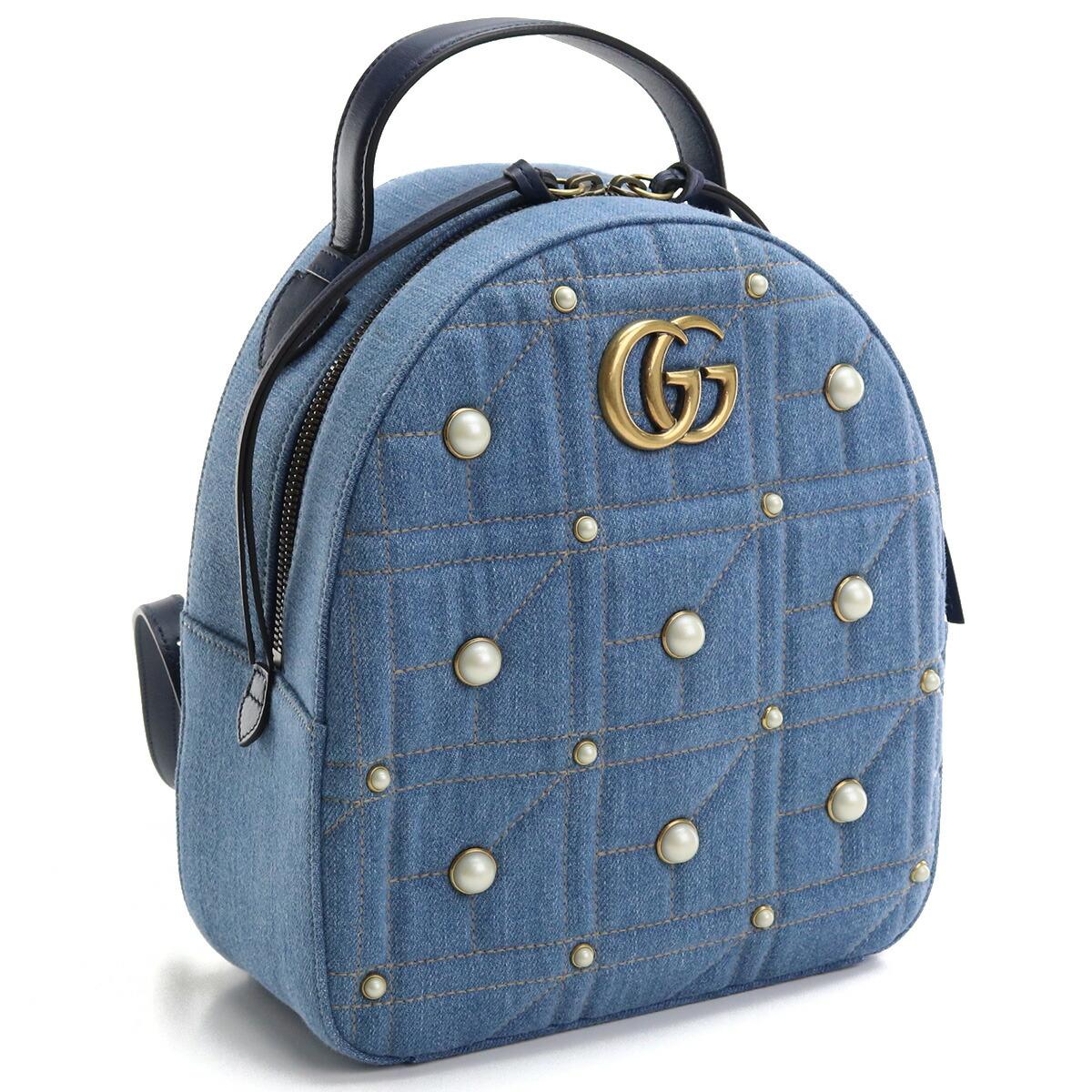 グッチ GUCCI  リュック バックパック 476671 9B52T 4380 GGマーモント ブルー系 bos-28 bag-01