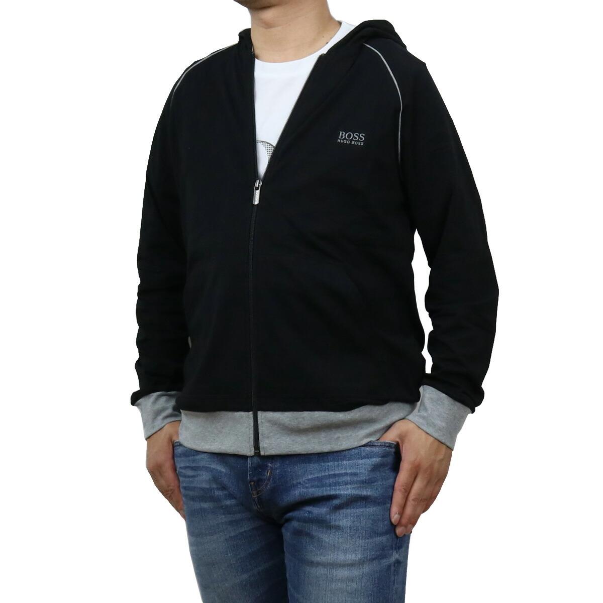 ヒューゴ・ボス HUGO BOSS  メンズ-パーカー 50381879 10143871 001 ブラック apparel-01 sale-8