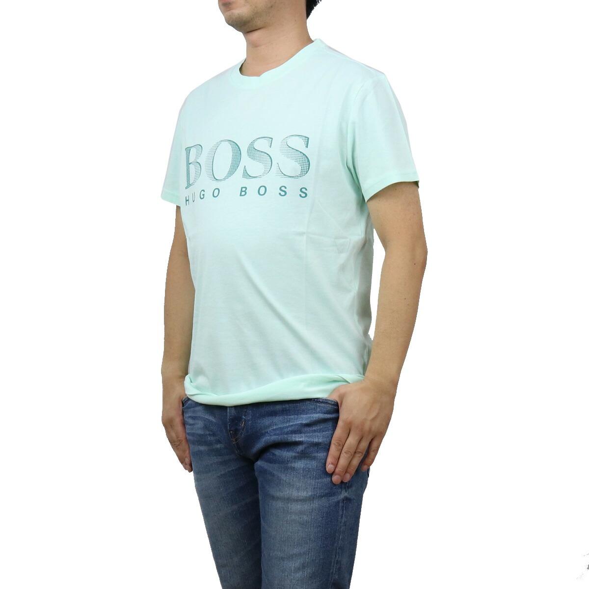 ヒューゴ・ボス HUGO BOSS  メンズ-Tシャツ 50407774 10217081 337 グリーン系  ts-01 apparel-01