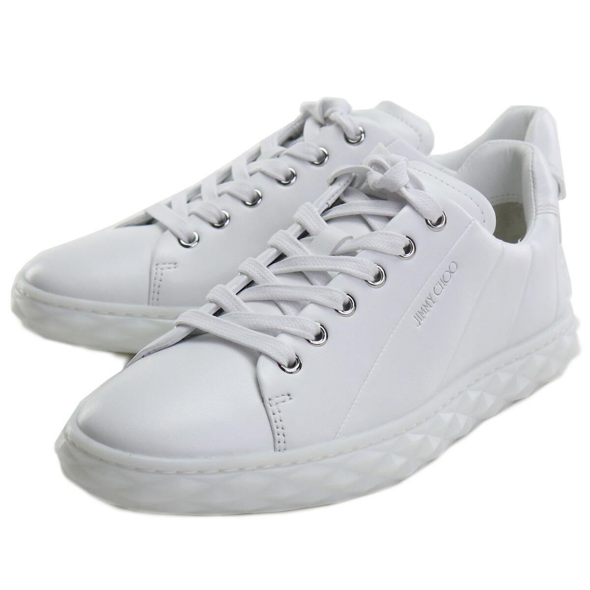 ジミーチュウ JIMMY CHOO  レディーススニーカー 白スニーカー ブランドスニーカー ブランドロゴ DIAMOND LIGHT F NAP 211 V WHITE ホワイト系 shoes-01 uni-01