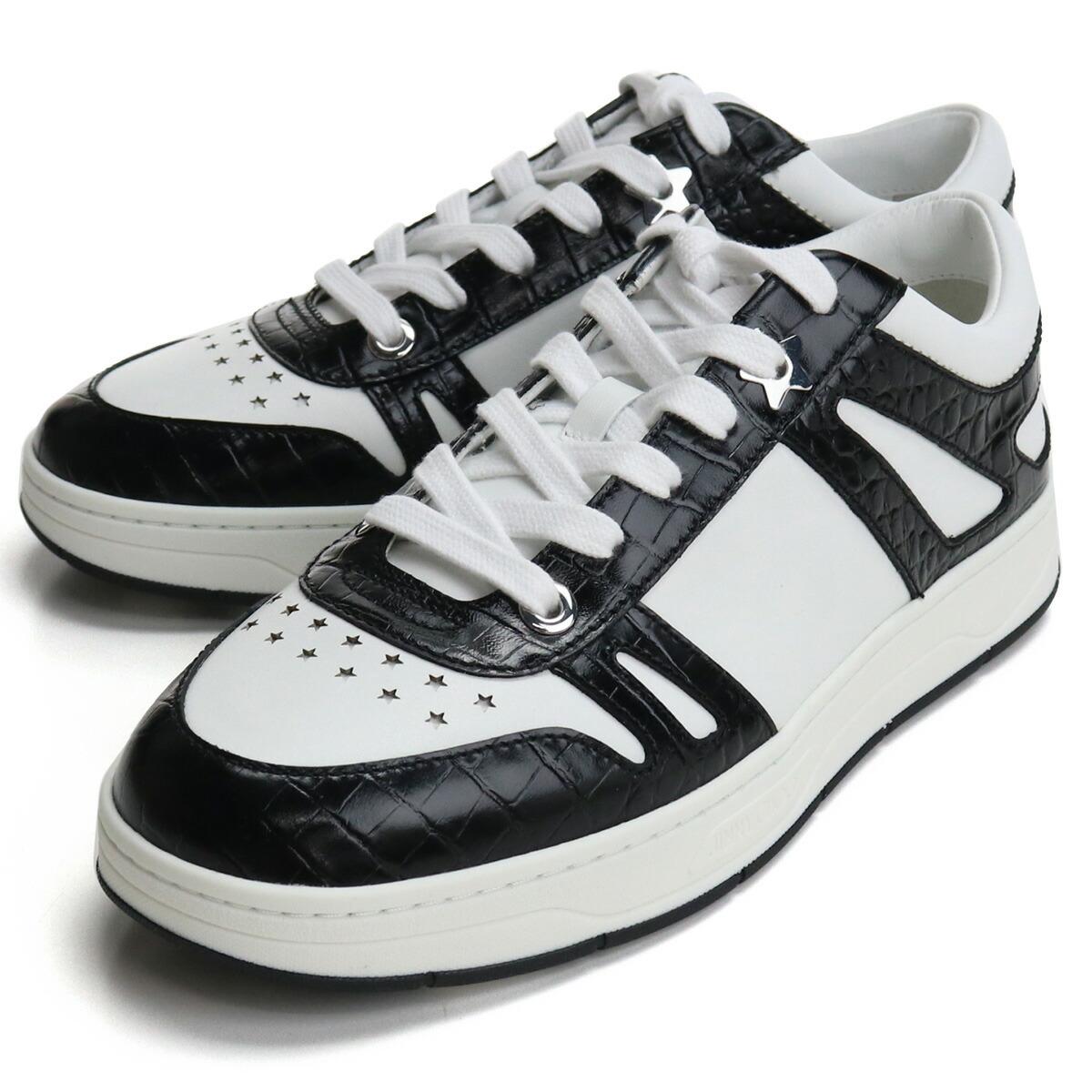 ジミーチュウ JIMMY CHOO  メンズスニーカー ブランドスニーカーHAWAII/M OXA 214 V BLACK/WHITE ホワイト系 ブラック bos-06 shoes-01