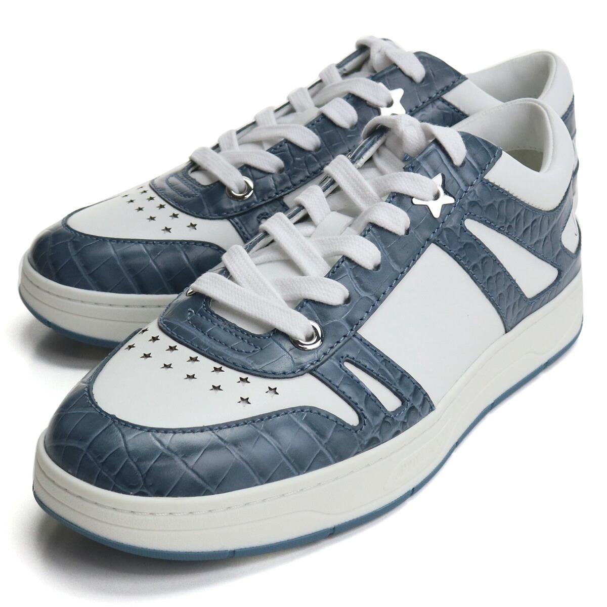 ジミーチュウ JIMMY CHOO  メンズスニーカー ブランドスニーカー  HAWAII/M OXA 214 V BUTTERFLY BLUE/WHI ホワイト系 ブルー系 bos-06 shoes-01