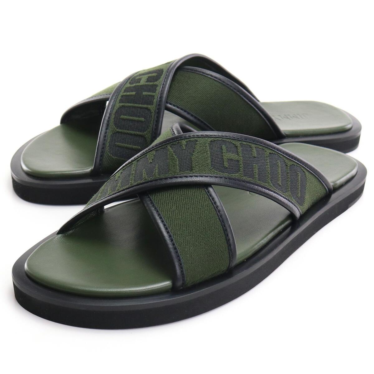 ジミーチュウ JIMMY CHOO  サンダル PALMO LBI 211 OLIVE/OLIVE カーキ bos-06 shoes-01
