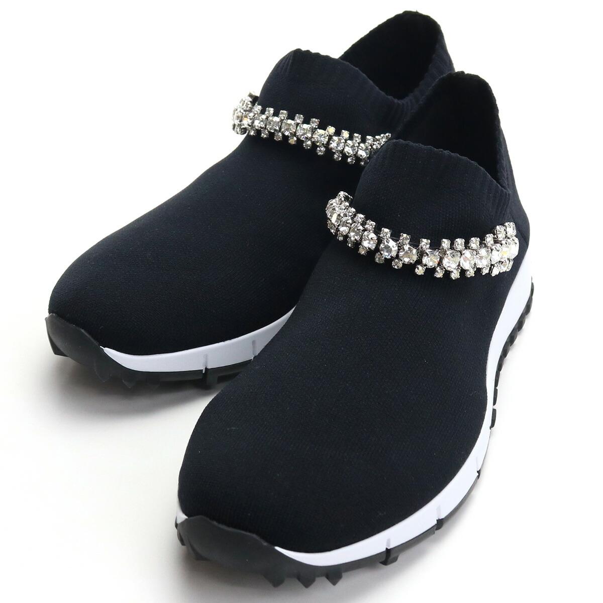 ジミーチュウ JIMMY CHOO レディーススニーカー VERONA CWK 183 BLACK/CRYSTAL ブラック bos-06 shoes-01 レディース