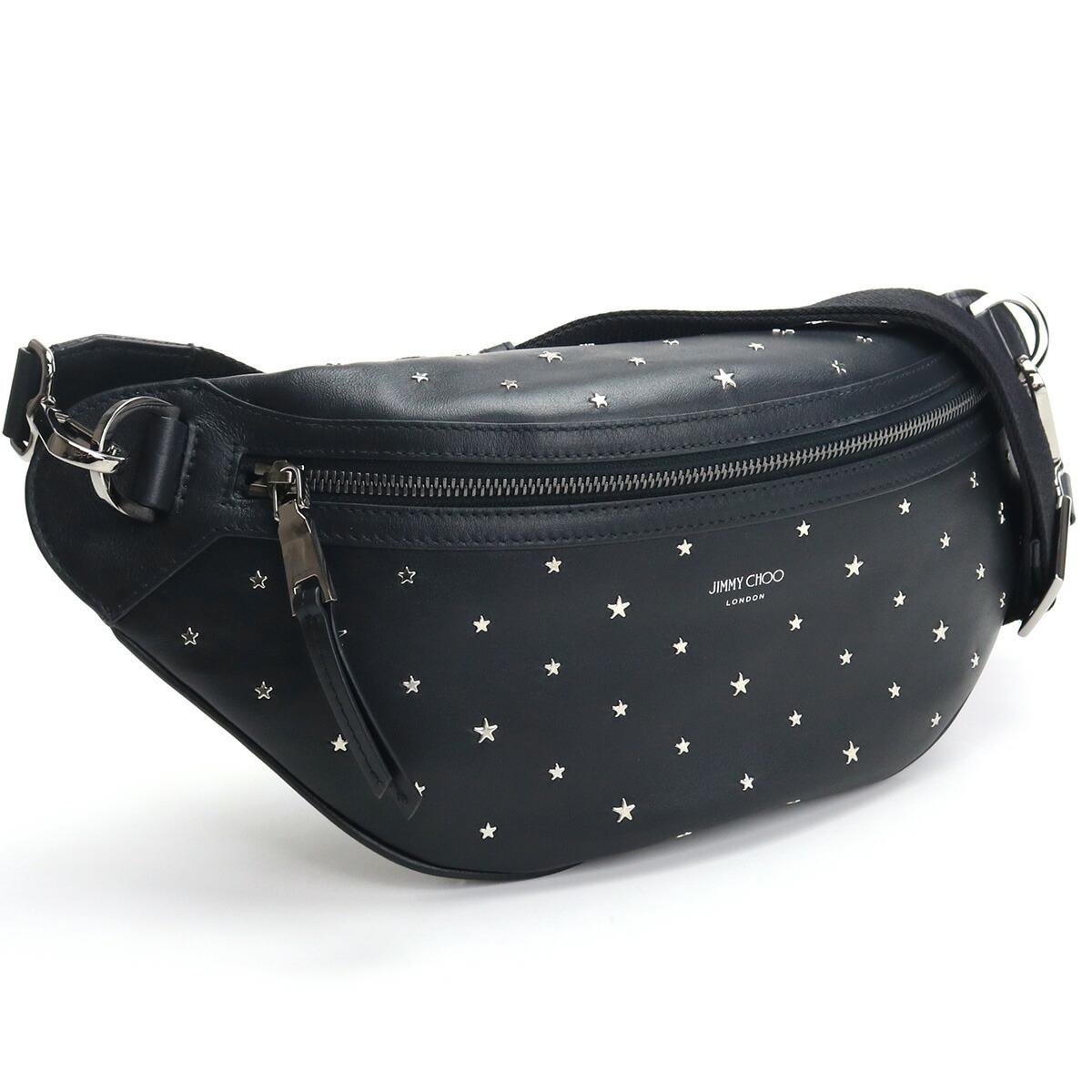ジミーチュウ JIMMY CHOO ボディバッグ YORK YSN 204 BLACK/SILVER ブラック bos-06 bag-01 メンズ