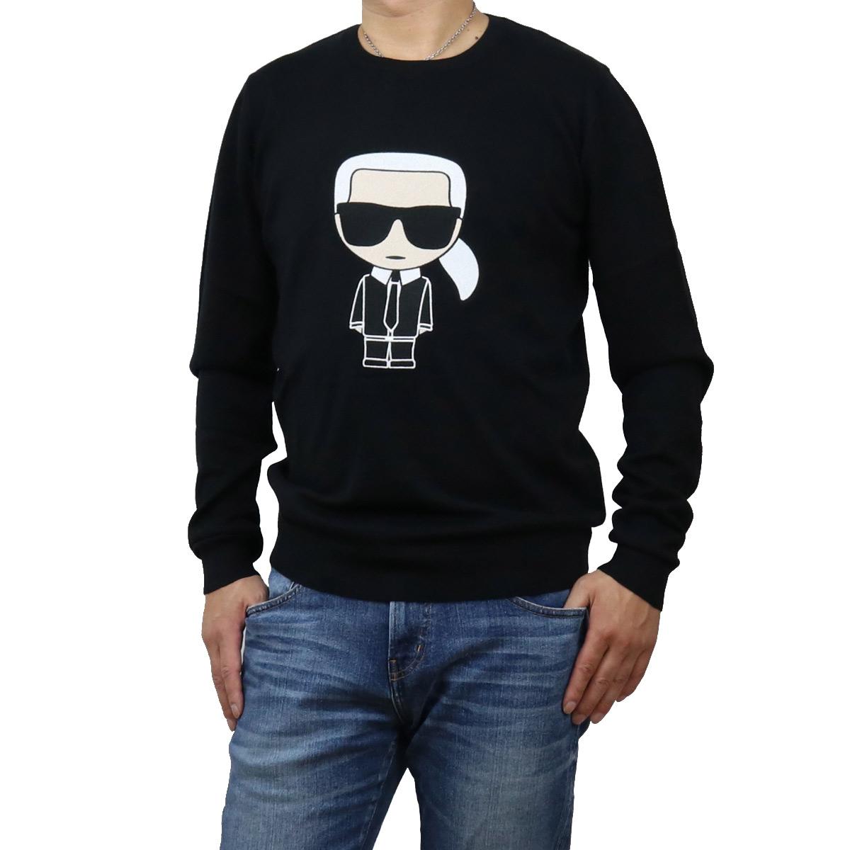 カール・ラガーフェルド Karl Lagerfeld メンズ-セーター,ニット IKONIK 655030 502305 990 BLACK ブラック メンズ bos-12 apparel-01