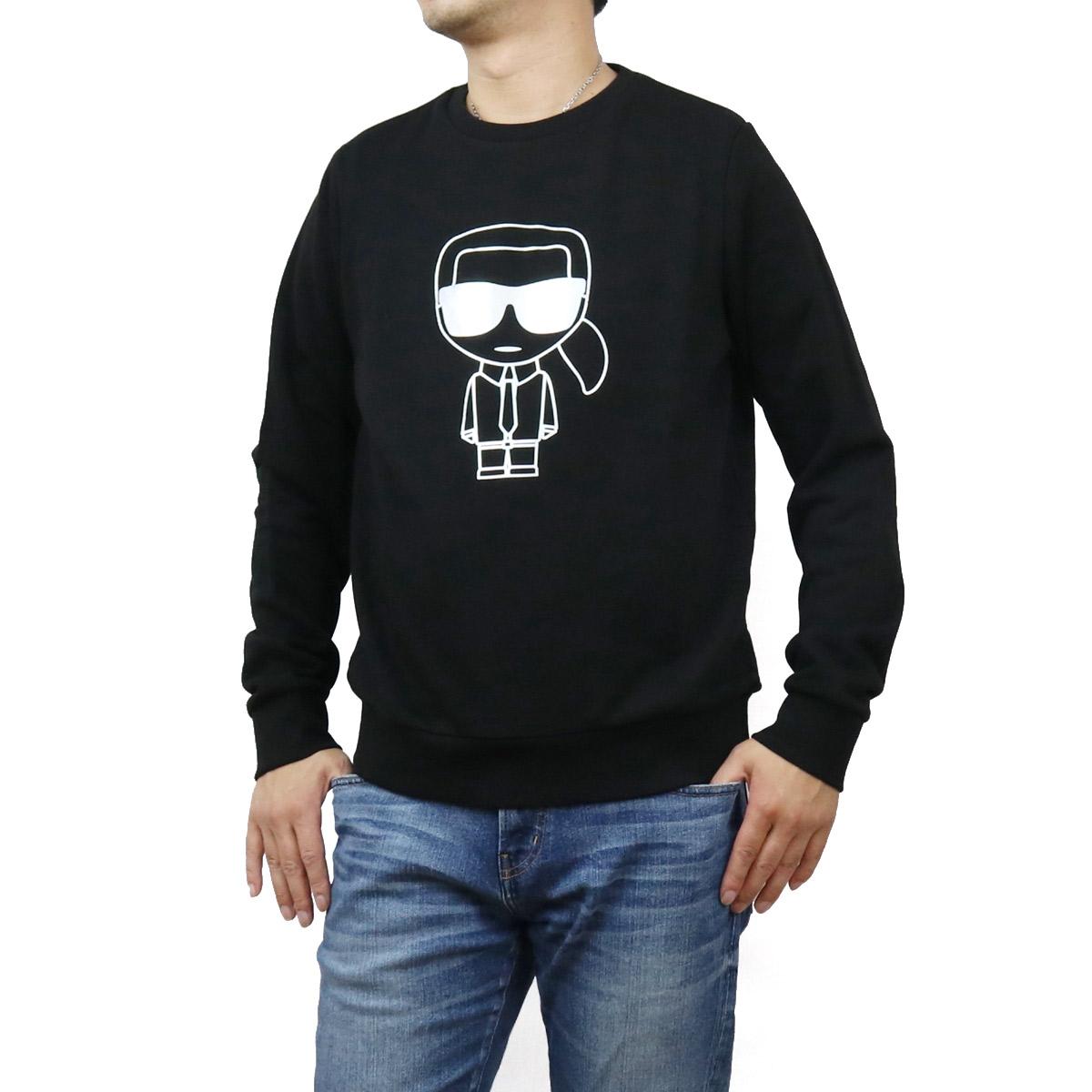 カール・ラガーフェルド Karl Lagerfeld メンズ-トレーナー スウェット IKONIK 705035 502900 990 BLACK ブラック メンズ bos-12 apparel-01