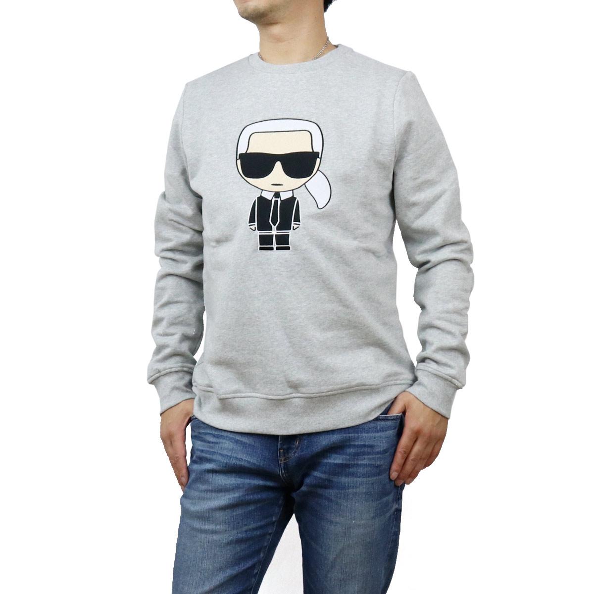 カール・ラガーフェルド Karl Lagerfeld メンズ-トレーナー スウェット IKONIK 705040 502950 941 GREY グレー系 メンズ bos-12 apparel-01