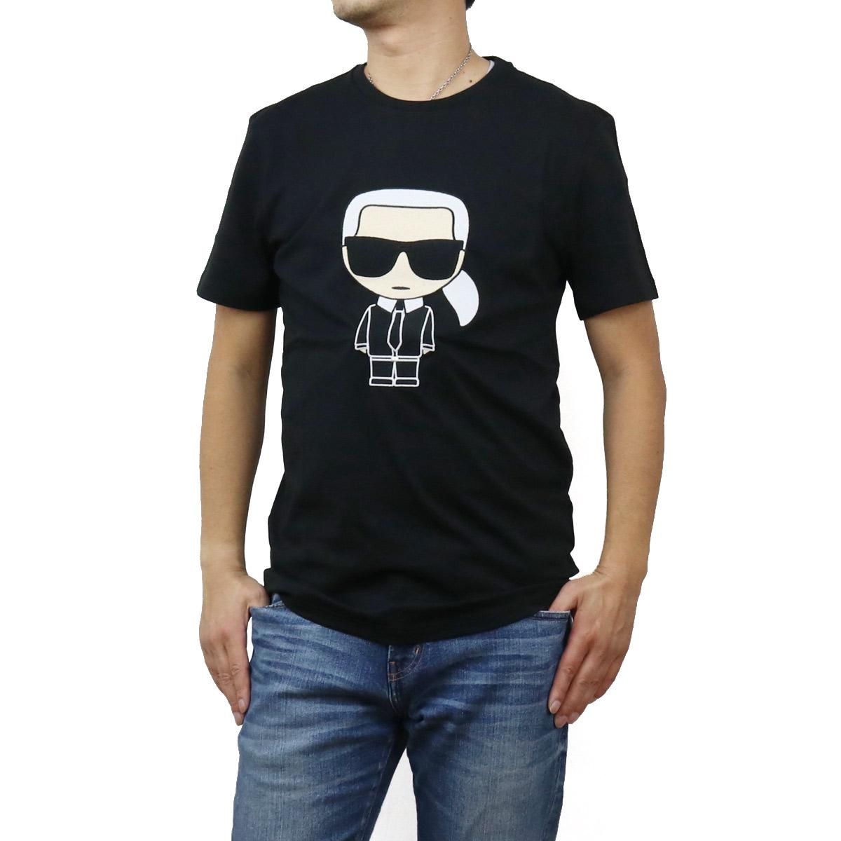 カール・ラガーフェルド Karl Lagerfeld メンズ-Tシャツ IKONIK 755060 502250 990 BLACK ブラック メンズ bos-12 apparel-01