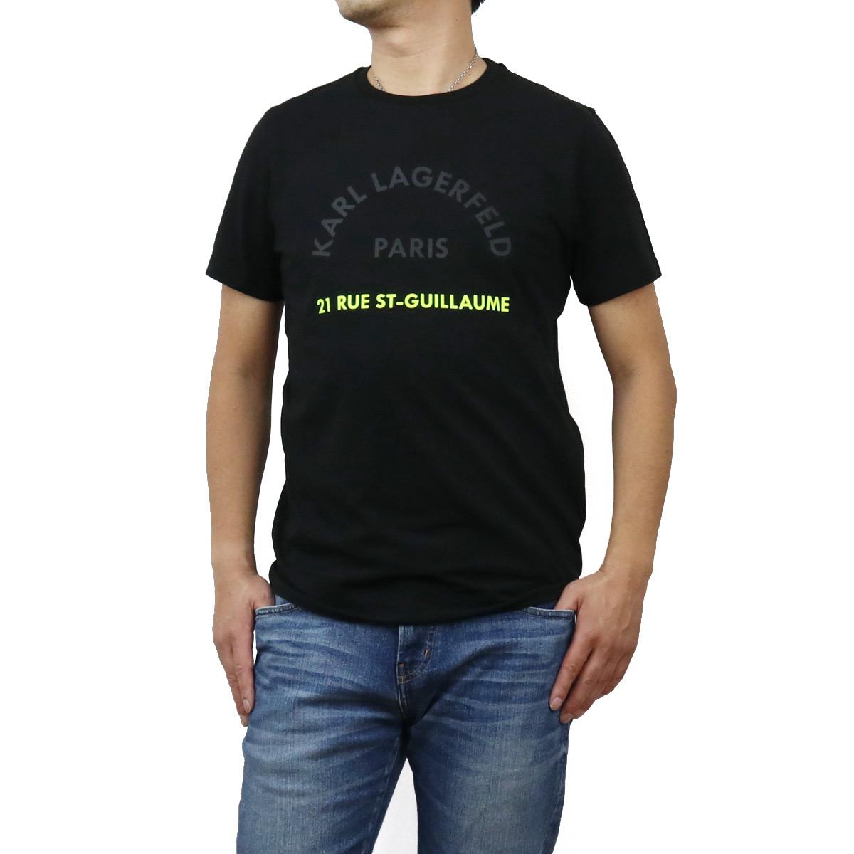カール・ラガーフェルド Karl Lagerfeld メンズ-Tシャツ 755072 502221 990 BLACK ブラック メンズ bos-12 apparel-01