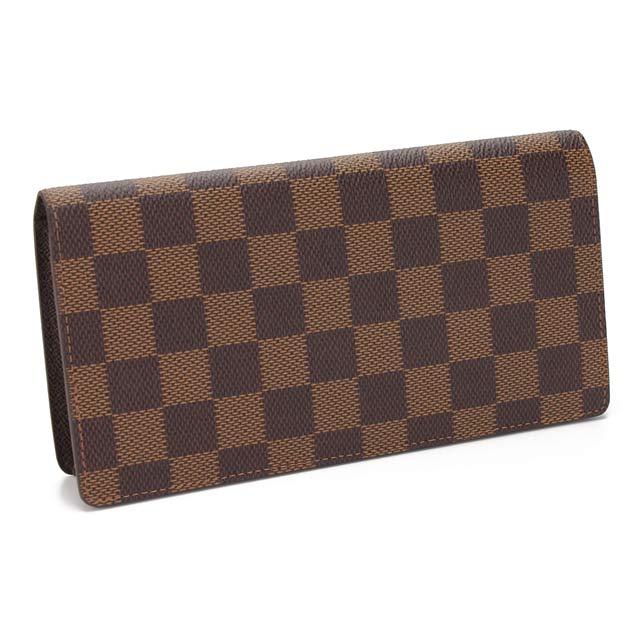 ルイ ヴィトン LOUIS VUITTON 財布 ダミエブラザ二つ折り 小銭入れ付 N60017 ブラウン系 メンズ