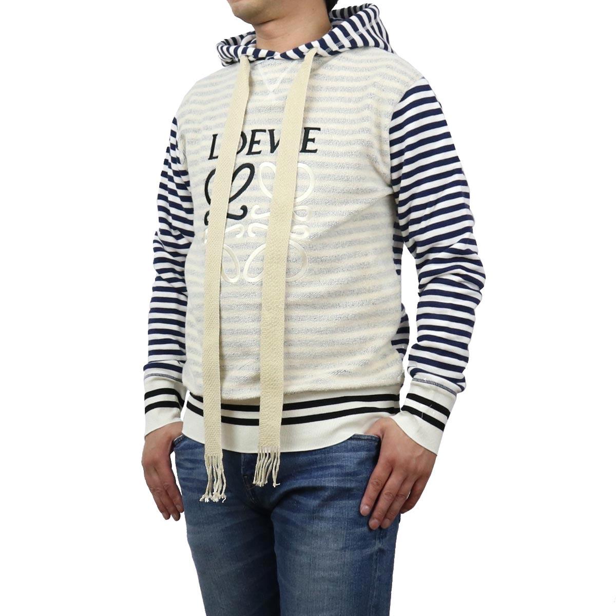 ロエベ LOEWE メンズ-パーカー H526Y25J04 2396 ベージュ系 ネイビー系 bos-35 apparel-01 メンズ   big-01