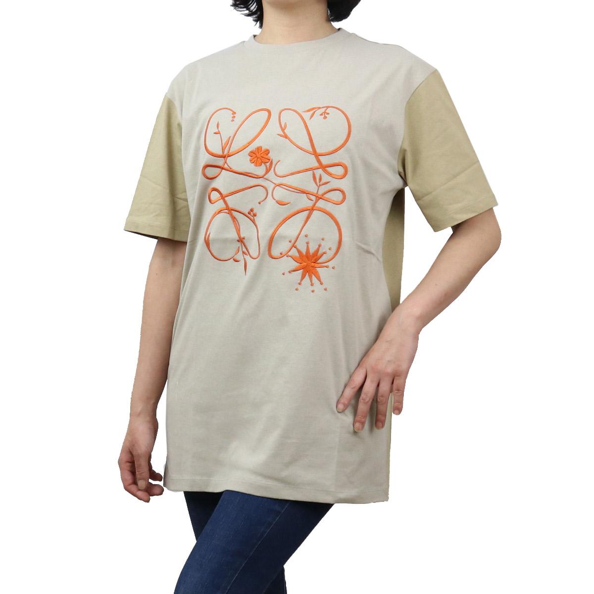 ロエベ LOEWE レディース-Tシャツ S540Y22X08 4000 ベージュ系 bos-35 apparel-01 レディース ts-01