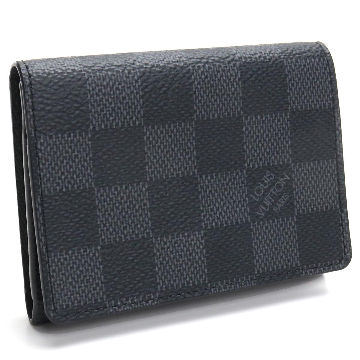 ルイ・ヴィトン LOUIS VUITTON グラフィット 名刺入れ アンヴェロップ・カルト ドゥ ヴィジット N63338 グラフィット グレー系 ブラック メンズ