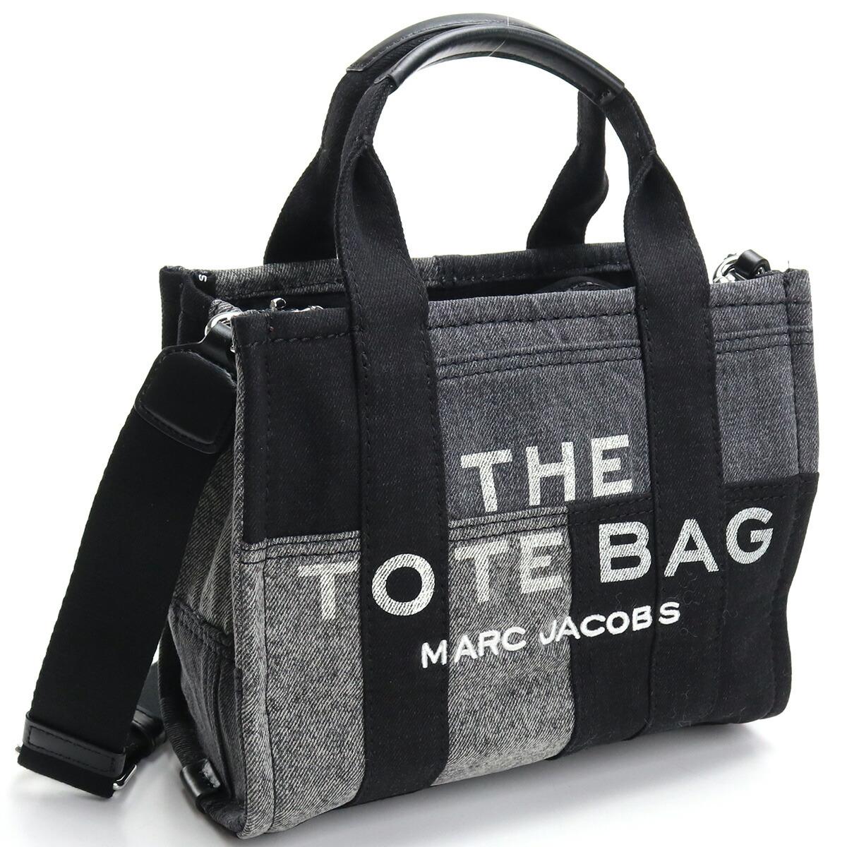 マーク・ジェイコブス MARC JACOBS  トートバッグ ブランドバッグ ブランドロゴ H016M06FA21 012  THE DENIM MINI TOTE BAG 2way BLACK DENIM ブラック グレー系 bag-01