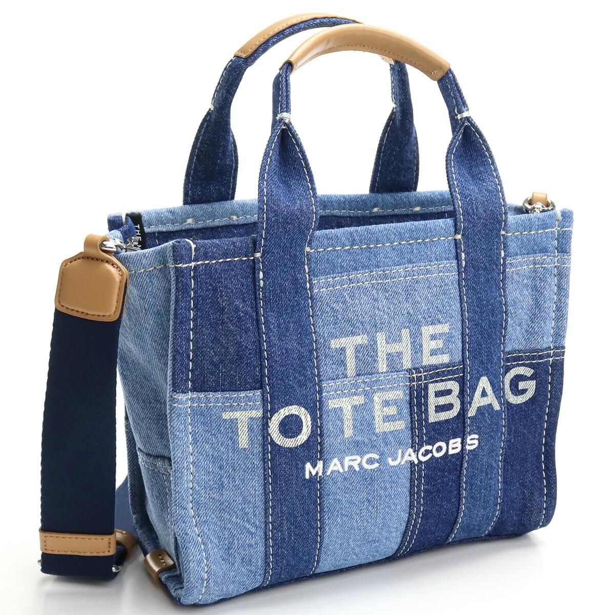 マーク・ジェイコブス MARC JACOBS  トートバッグ   ブランドバッグ ブランドロゴ H016M06FA21 422 THE DENIM MINI TOTE BAG 2way BLUE DENIM ブルー系 bag-01