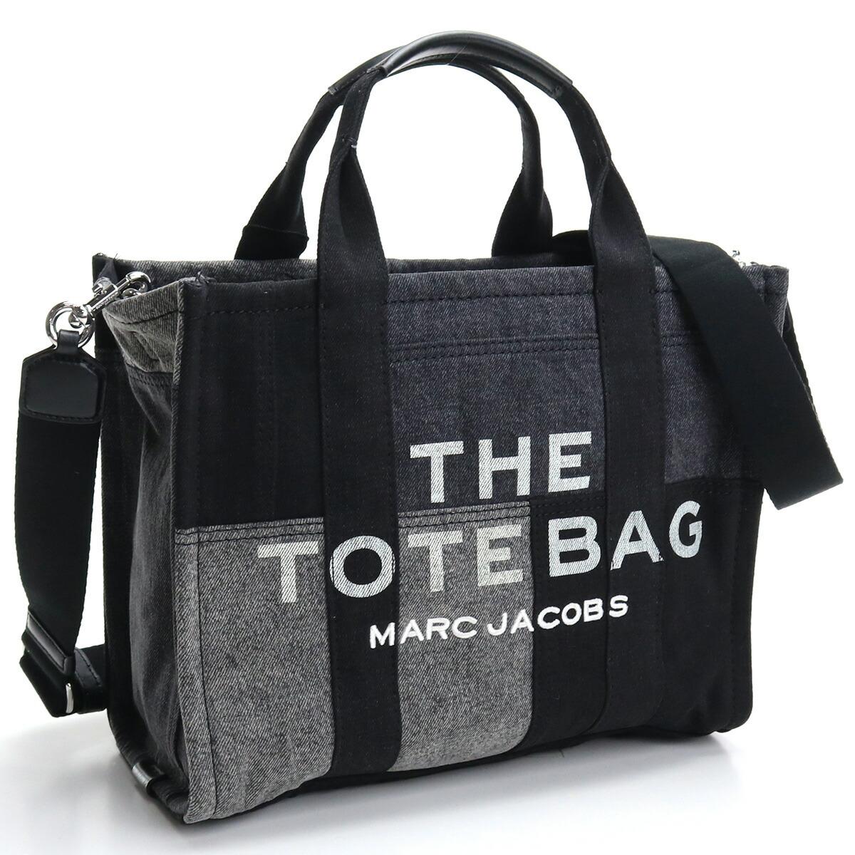 マーク・ジェイコブス MARC JACOBS  トートバッグ ブランドバッグ ブランドロゴ H017M06FA21 012 THE DENIM SMALL TOTE BAG 2way BLACK DENIM ブラック グレー系 bag-01