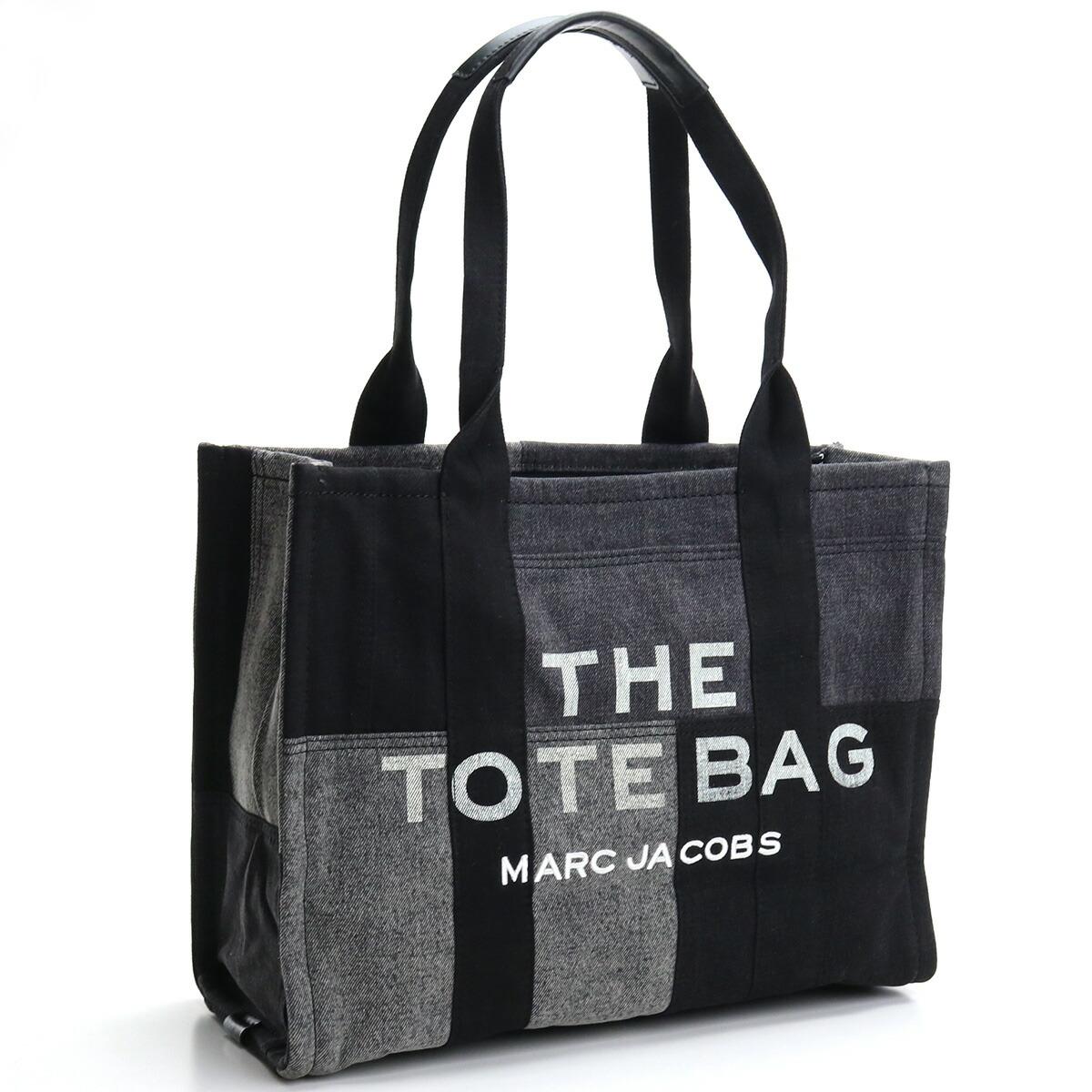 マーク・ジェイコブス MARC JACOBS  トートバッグ ブランドバッグ ブランドロゴ H018M06FA21 012 THE DENIM LARGE TOTE BAG BLACK DENIM ブラック グレー系 bag-01