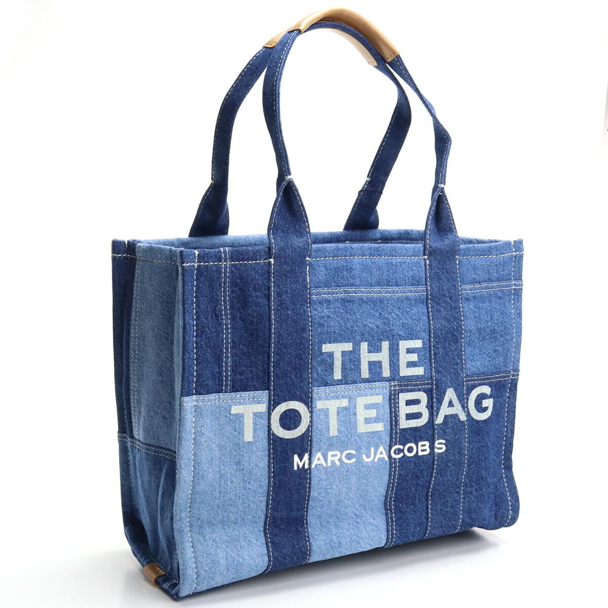 マーク・ジェイコブス MARC JACOBS  トートバッグ ブランドバッグ ブランドロゴ H018M06FA21 422 THE DENIM LARGE TOTE BAG BLUE DENIM ブルー系 bag-01