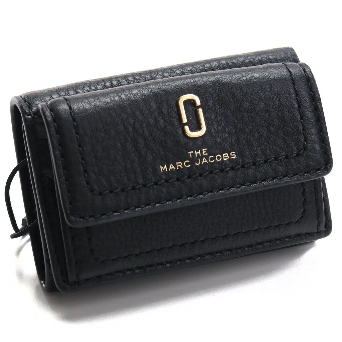 マーク・ジェイコブス MARC JACOBS MINI TRIFOLD 3つ折り財布 ミニ財布 コンパクト財布 ミニウォレット ブランド財布 M0015413 001 BLACK ブラック gsw-3