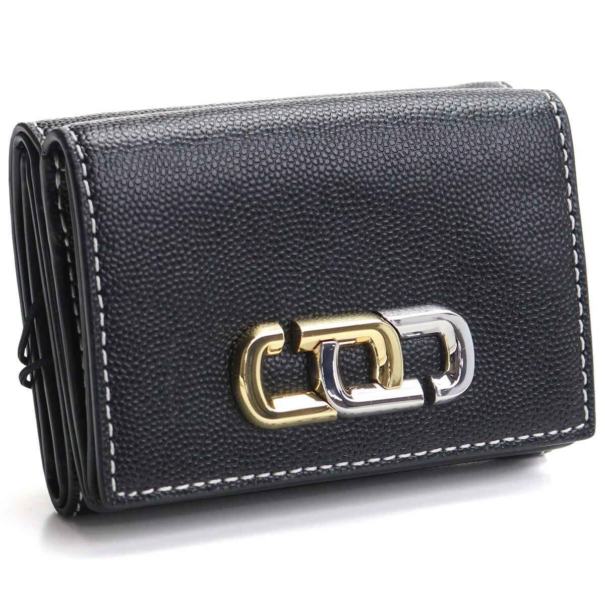 マーク・ジェイコブス MARC JACOBS THE J LINK SLGS 3つ折り財布 ミニ財布 コンパクト財布 コンパクト財布 M0017023 001 BLACK ブラック gsw-2
