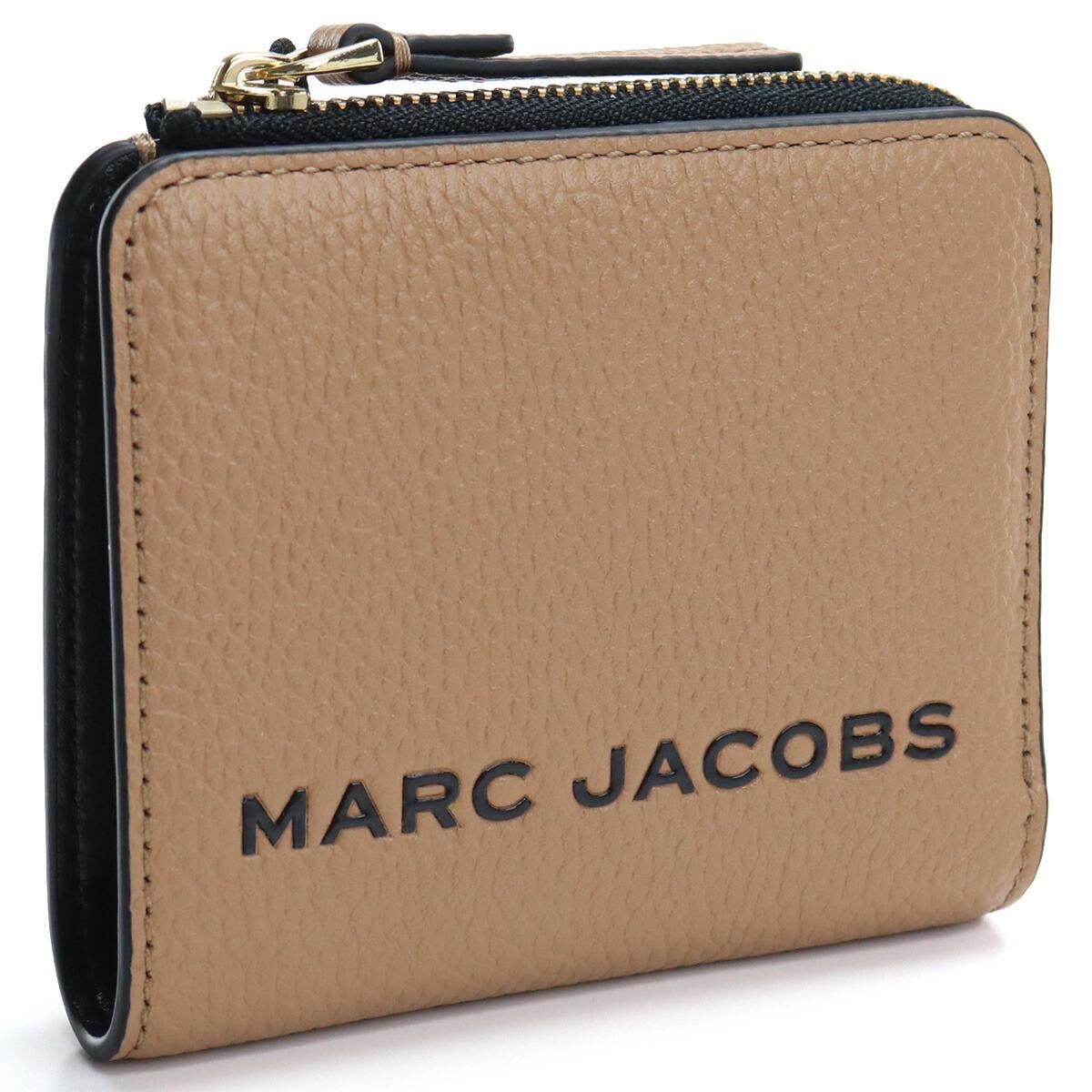 マーク・ジェイコブス MARC JACOBS  2つ折り財布 コンパクト財布 ミニ財布 ブランド財布 M0017140 219 MEDIUM TAN ブラウン系 gsw-2
