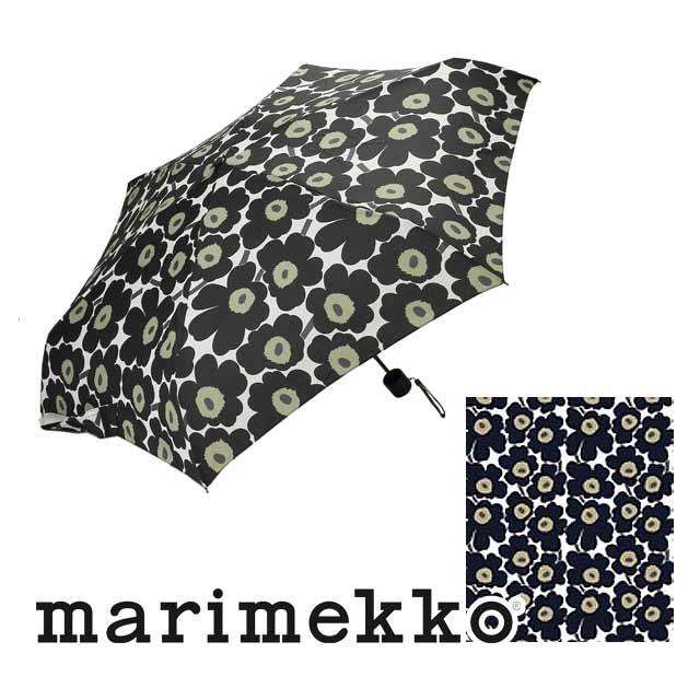 マリメッコ marimekko MINI UNIKKO MINI MANUAL 折りたたみ傘 38653 030 ブラック レディース ウニッコ 傘