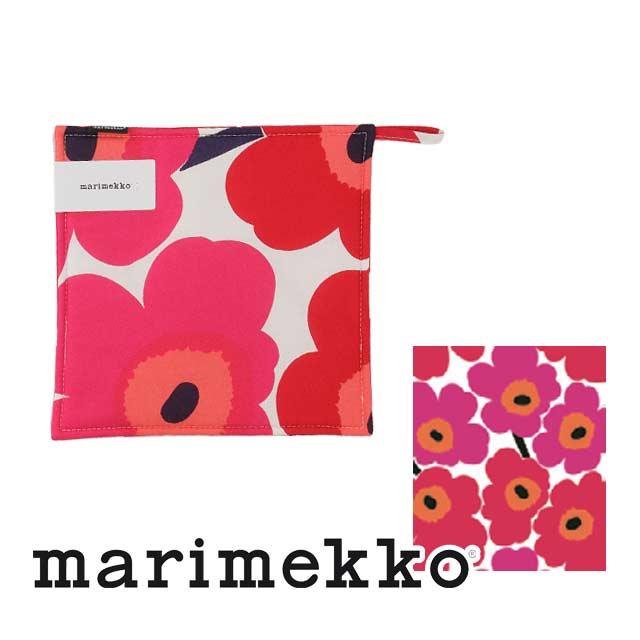 マリメッコ marimekko PIENI UNIKKO ポットホルダー 66431 ポットホルダー 001 レッド系 ウニッコ 鍋敷き