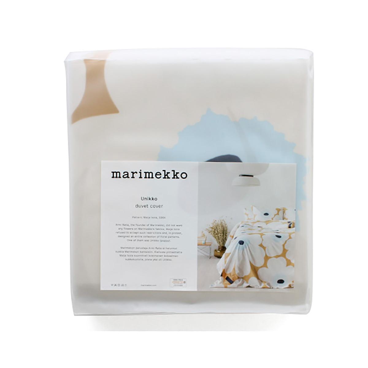 マリメッコ marimekko UNIKKO ウニッコ柄 掛け布団カバー シングルサイズ 生活雑貨 北欧 69080 掛け布団カバー 815 ベージュ系 ホワイト系