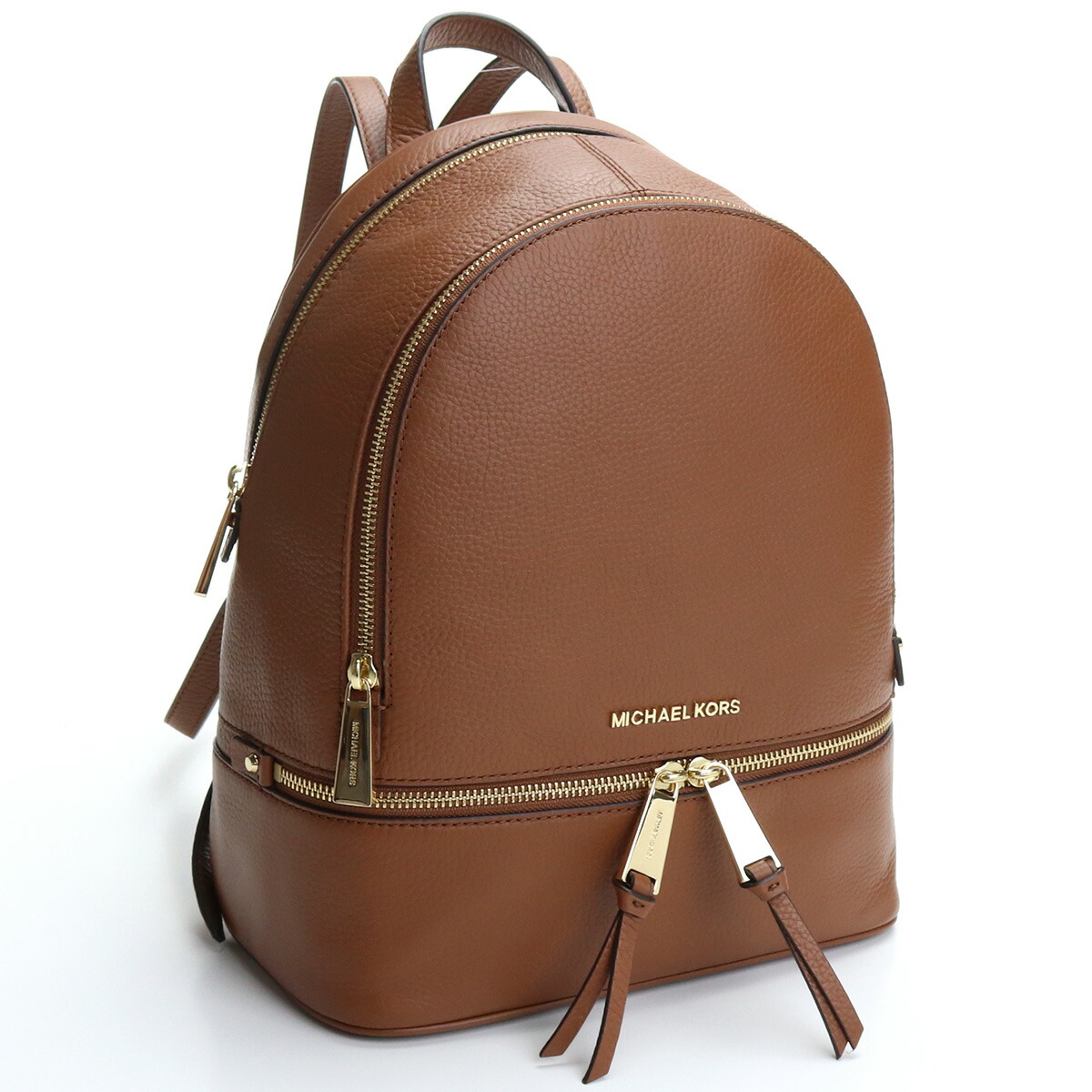 マイケル・コース MICHAEL KORS RHEA ZIP リュック バックパック ブランドバッグ 30S5GEZB1L LEATHER 230 LUGGAGE ブラウン系 bag-01