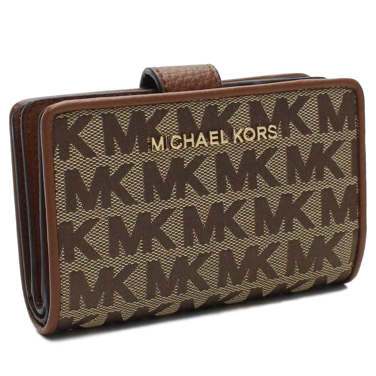 マイケルコースアウトレット MICHAEL KORS(OUTLET) 2つ折り財布 35T9GTVF2J BG/EBONY ブラウン系 レディース ブランド 財布 サイフ ウォレット さいふ