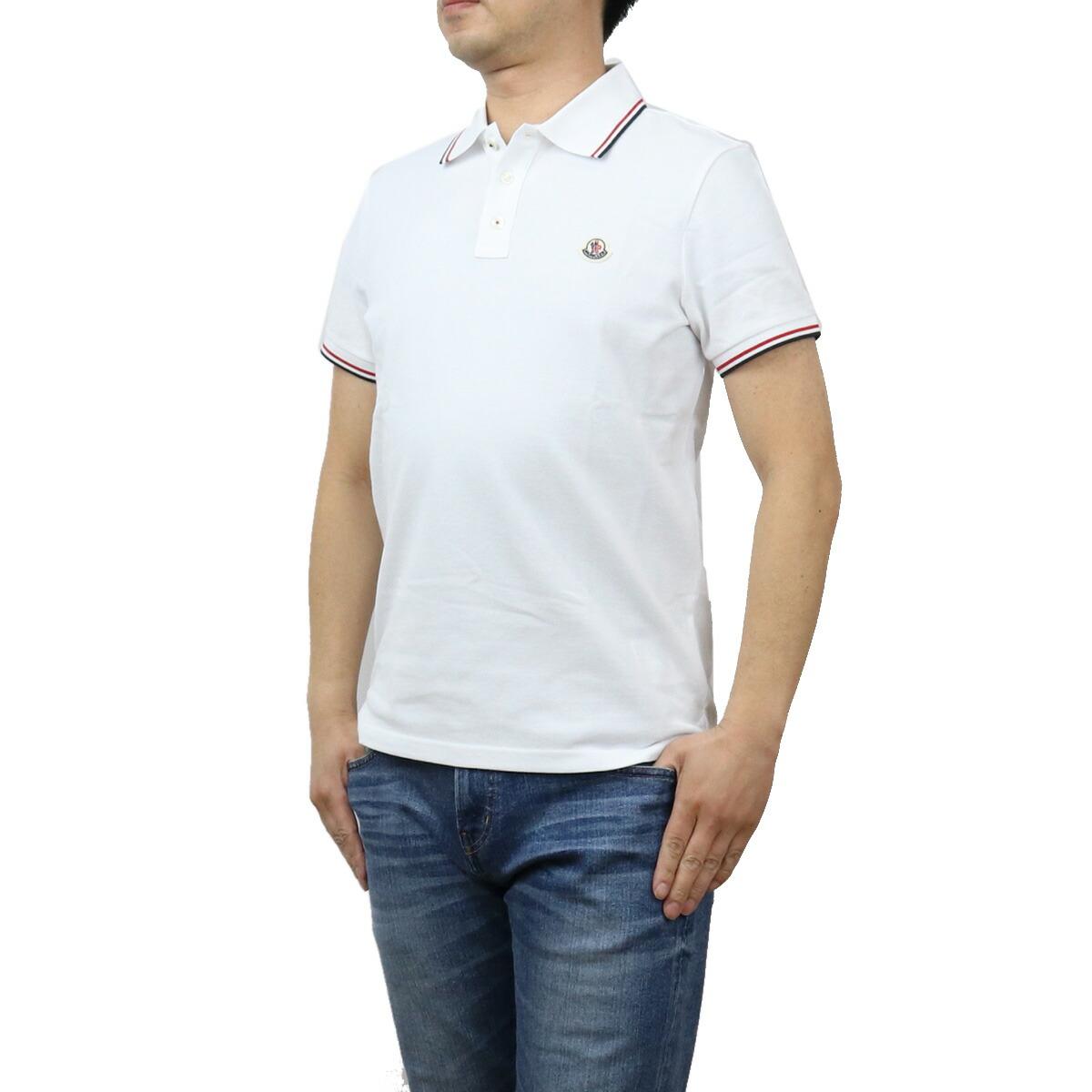 モンクレール MONCLER メンズ-ポロシャツ 8A70300 MAGLIA POLO MAN 84556 001 ホワイト系 bos-10 apparel-01 polo-01 メンズ