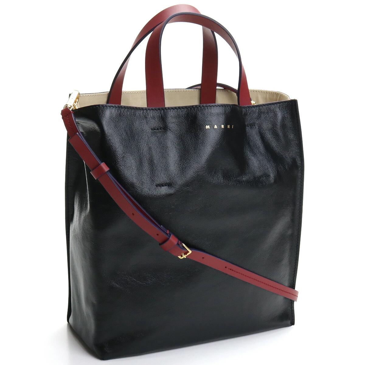 マルニ MARNI  トートバッグ ブランドバッグ ブランドトートバッグ SHMP0018U1 P2644 Z2I33 ブラック bos-22 bag-01