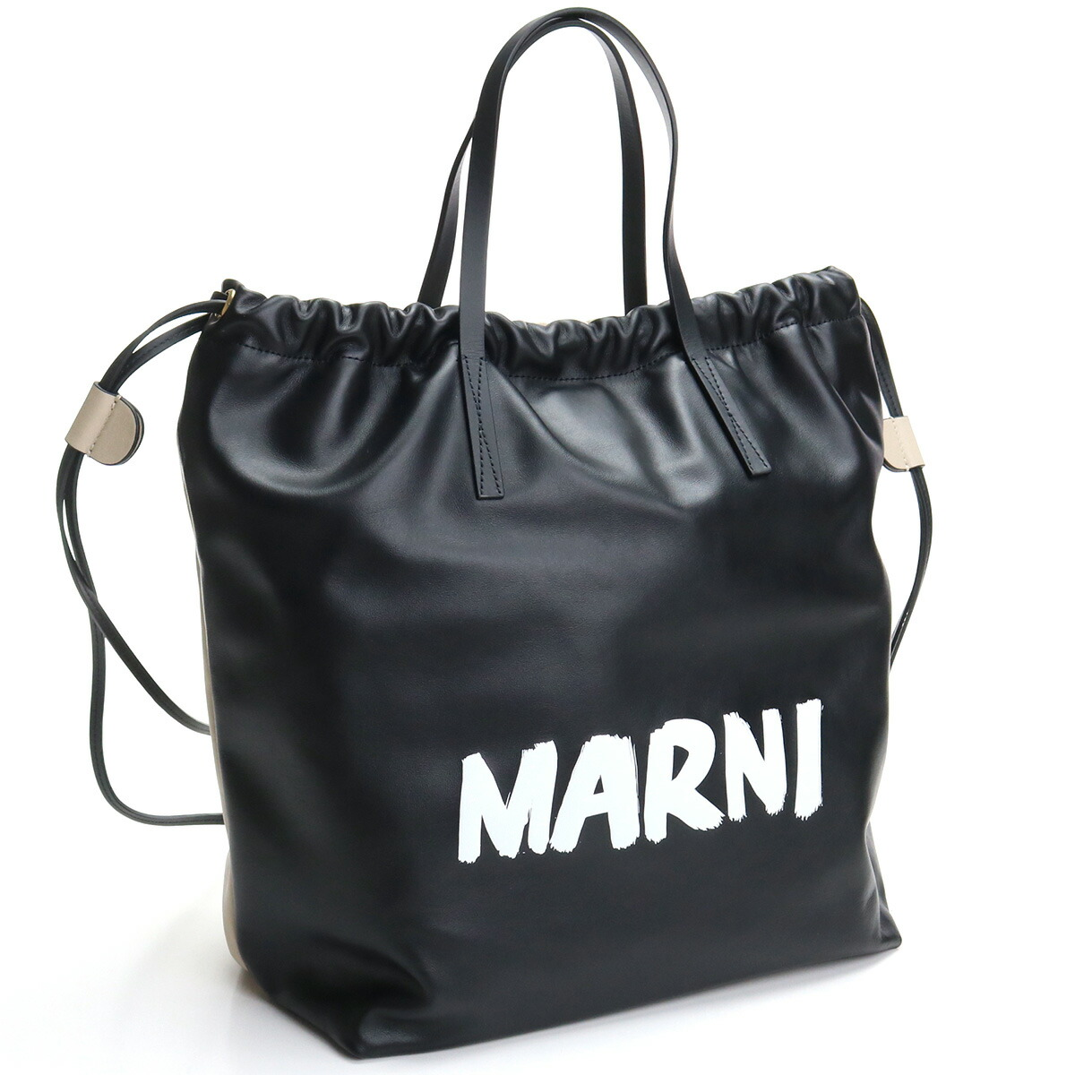 マルニ MARNI  リュック ハンドバッグ ブランドバッグ ブランドロゴ ZAMP0011Q2 P0658 ZL170 ブラック  bos-22 bag-01