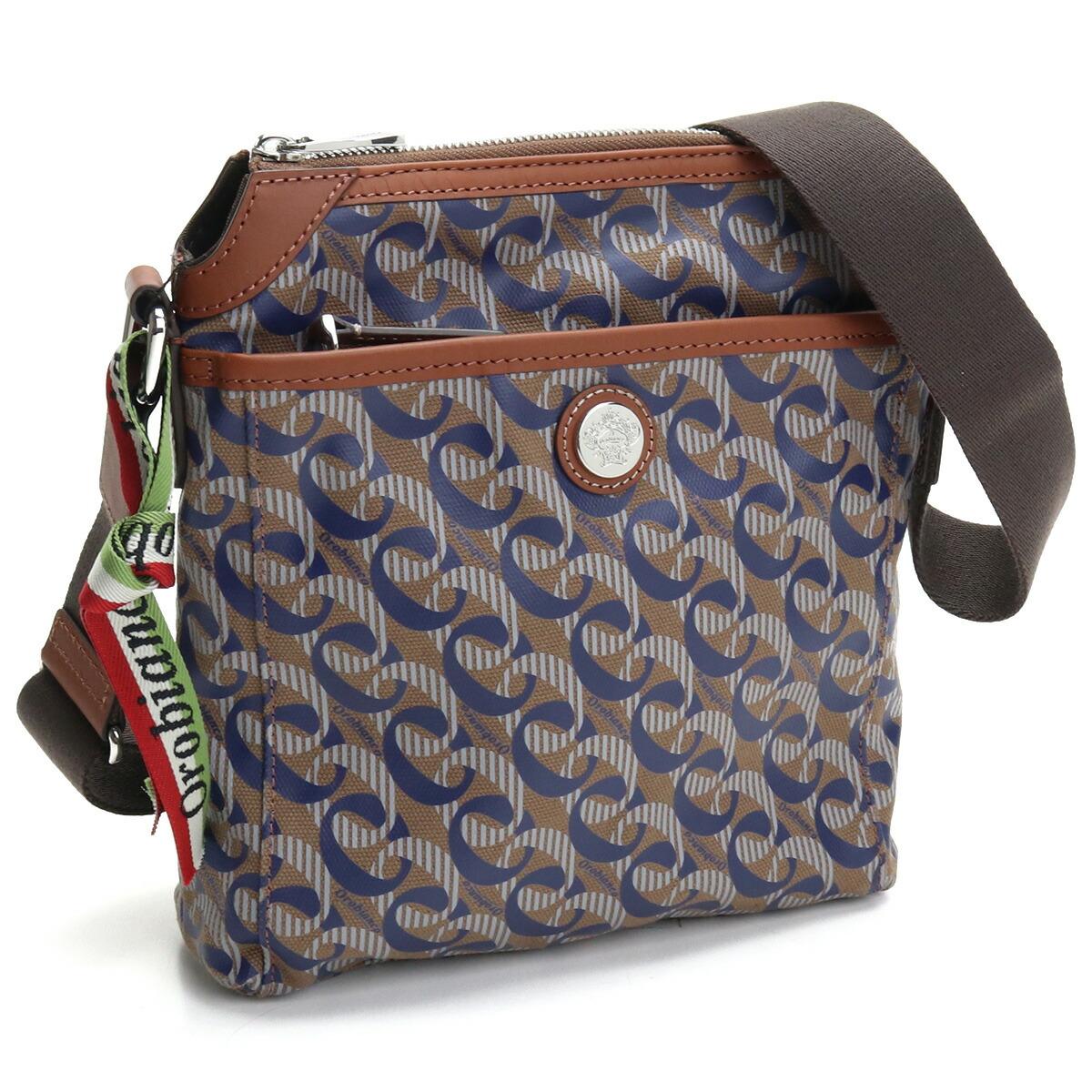 オロビアンコ OROBIANCO  斜め掛け ショルダーバッグ ブランドバッグ CITTADIA 5 MONOGRAM PRINT-L BRO ブラウン系 ネイビー系 bag-01