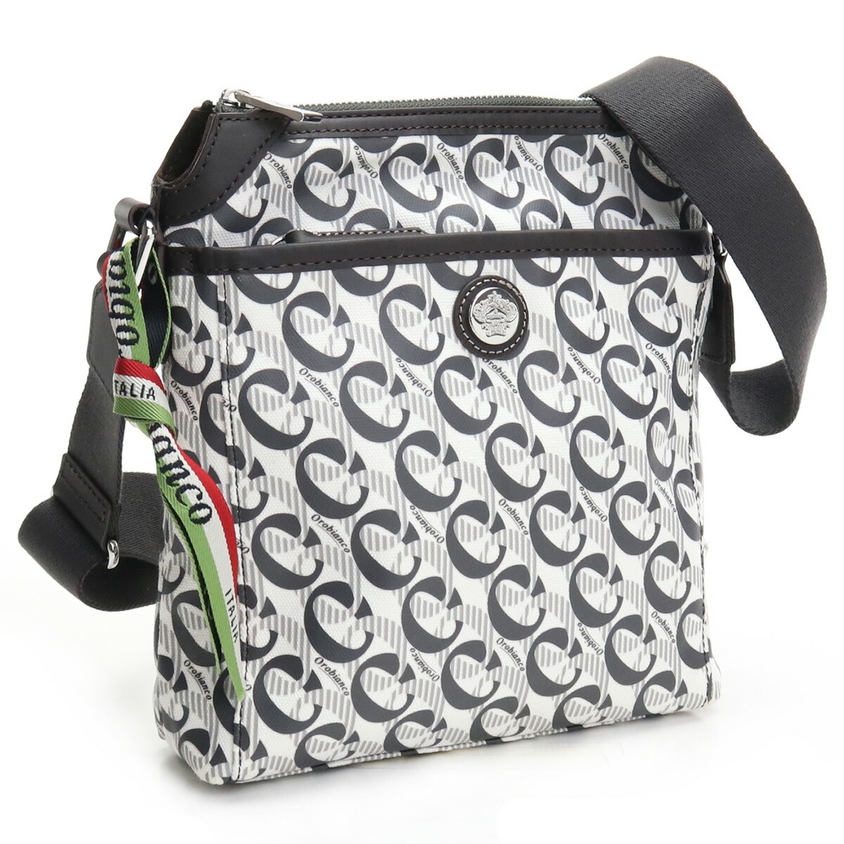 オロビアンコ OROBIANCO  斜め掛け ショルダーバッグ ブランドバッグ CITTADIA 19 MONOGRAM PRINT-ASH B ホワイト系 グレー系 bag-01