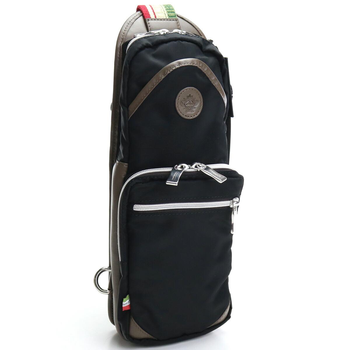 オロビアンコ OROBIANCO  ボディバッグ GIACOMIO DA-N 99/08 NERO/BRONZO ブラック ブラウン系 bag-01