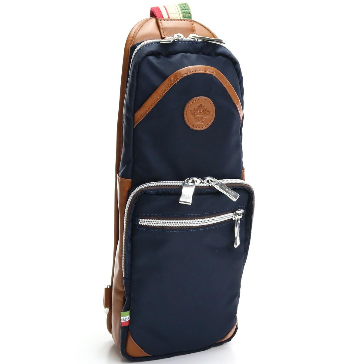 オロビアンコ OROBIANCO  ボディバッグ GIACOMIO DA-N 12/08 BLU-SCURO/MATTONE  ブラウン系 bag-01