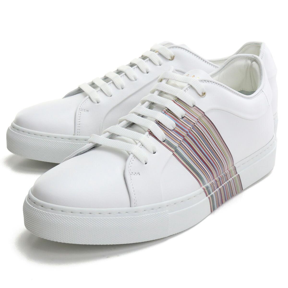 ポール・スミス Paul Smith  メンズスニーカー 白スニーカー ブランドスニーカー M1SBAS59 ATRI 01 WHITE ホワイト系 shoes-01